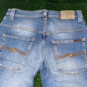 Nudie Thin Finn Light Blue Denim Jeans